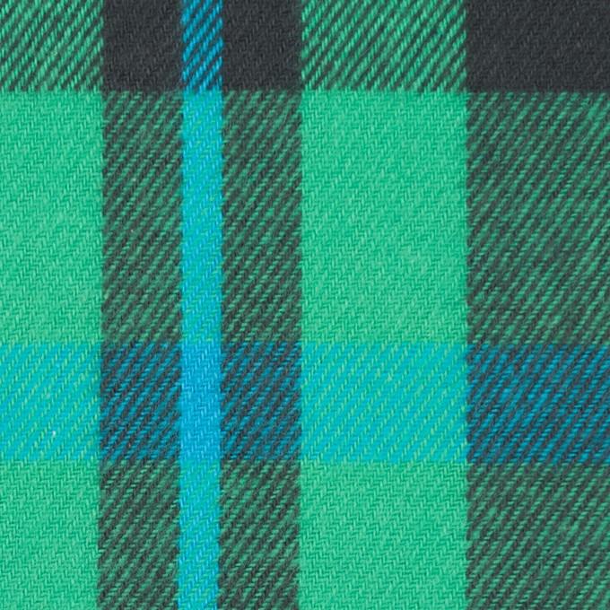 コットン×チェック(エメラルドグリーン&チャコールグレー)×ビエラ_全2色 イメージ1
