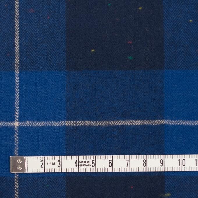コットン&ポリウレタン×チェック(ブルー&ネイビー)×ヘリンボーン_全2色 イメージ4