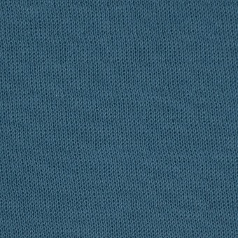 コットン×無地(ターコイズ)×リブ&天竺ニット_全3色