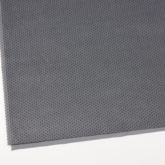コットン&ポリウレタン×サークル(グレー)×ベッチンストレッチ イメージ2