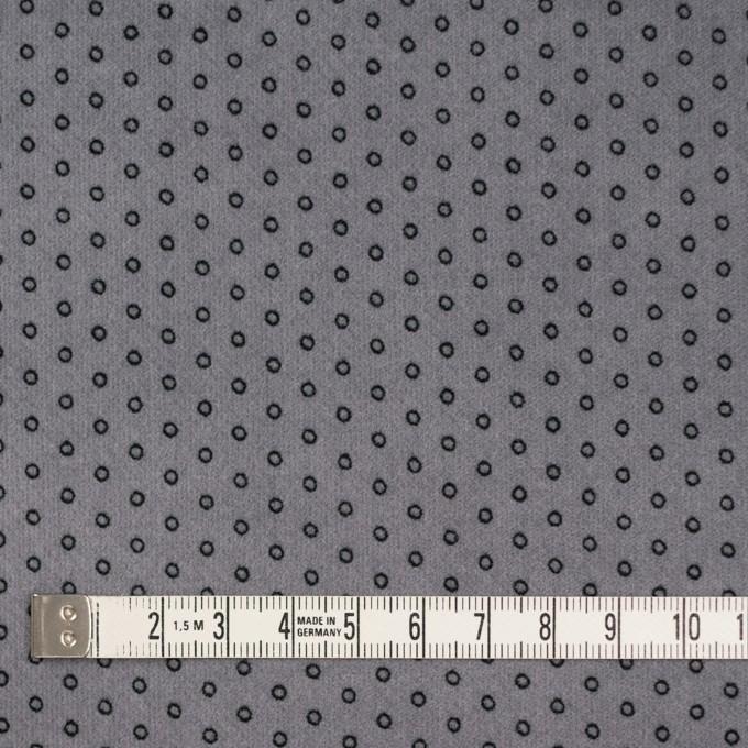 コットン&ポリウレタン×サークル(グレー)×ベッチンストレッチ イメージ4
