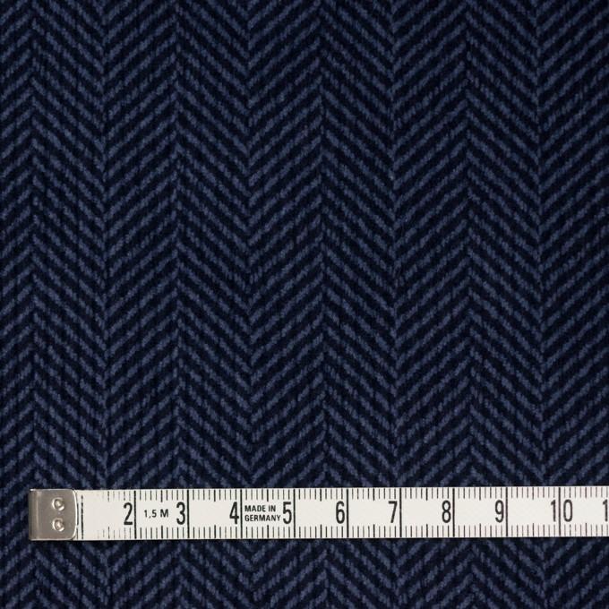 コットン×バイヤス(ブルーグレー&ネイビー)×中コーデュロイ イメージ4