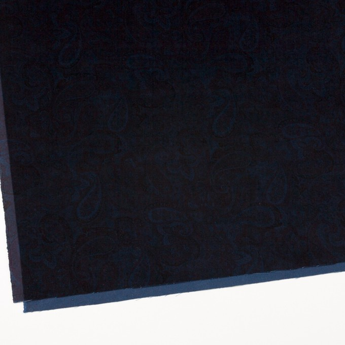 コットン&ポリウレタン×ペイズリー(ダークネイビー)×ベッチンストレッチ イメージ2