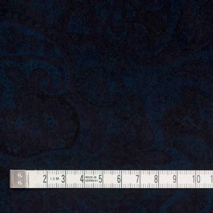 コットン&ポリウレタン×ペイズリー(ダークネイビー)×ベッチンストレッチ イメージ4