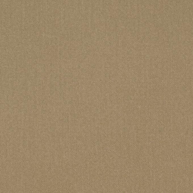 コットン&ポリウレタン×無地(カーキベージュ)×サテンストレッチ_全2色 イメージ1