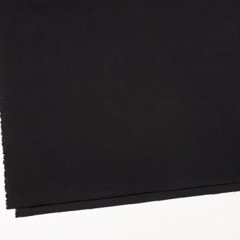 コットン&ポリウレタン×無地(ブラック)×サテンストレッチ_全2色 サムネイル2