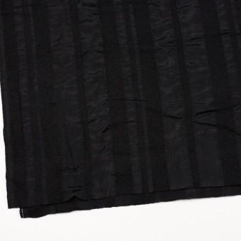 ウール&レーヨン×無地(ブラック)×二重織 サムネイル2