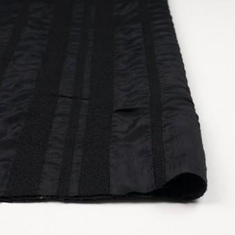 ウール&レーヨン×無地(ブラック)×二重織 サムネイル3