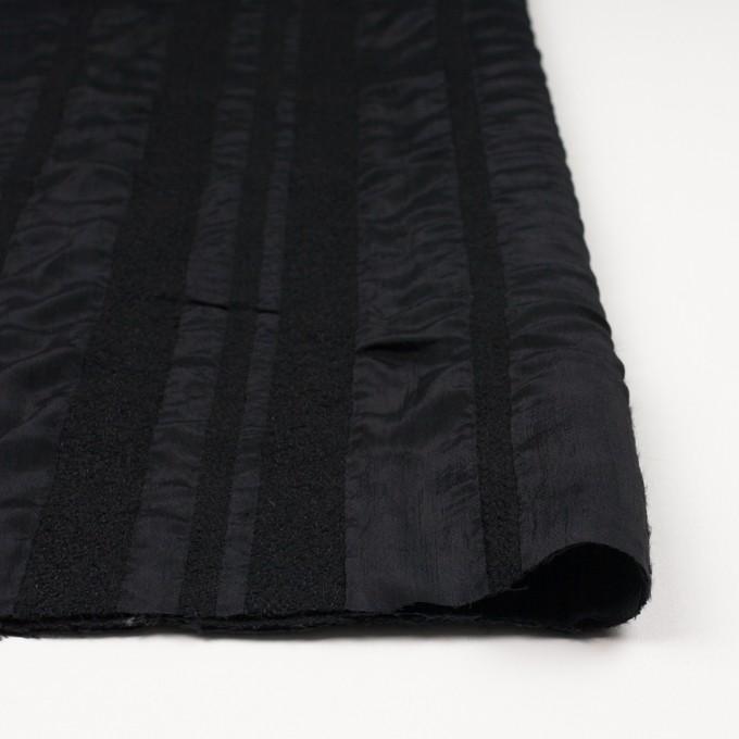 ウール&レーヨン×無地(ブラック)×二重織 イメージ3