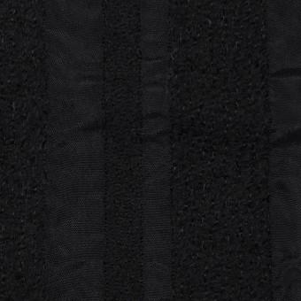 ウール&レーヨン×無地(ブラック)×二重織