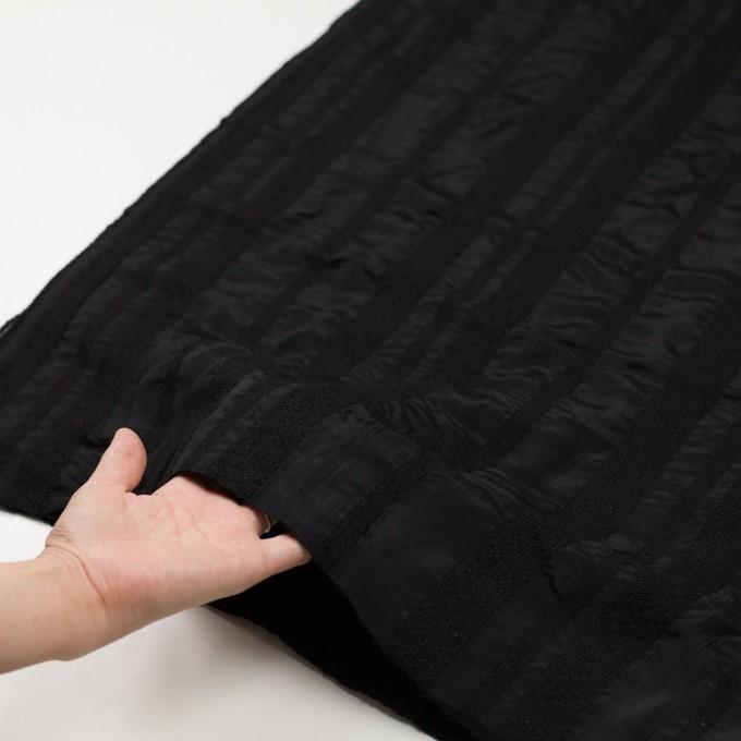 ウール&レーヨン×無地(ブラック)×二重織 イメージ5