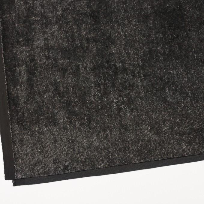コットン&ポリエステル×ミックス(ブラック&シルバー)×ベルベット イメージ2