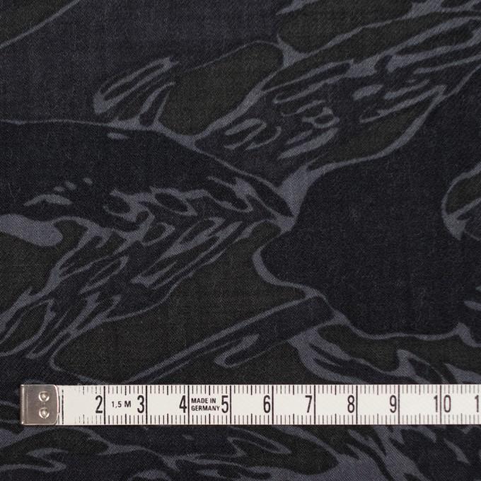 ウール×迷彩(チャコール)×サージ イメージ4