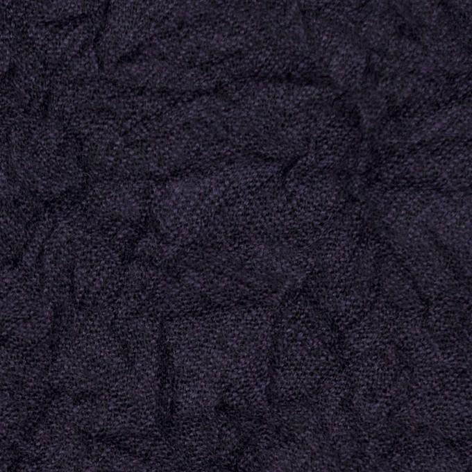 ウール×無地(ダークパープル)×ガーゼワッシャー イメージ1