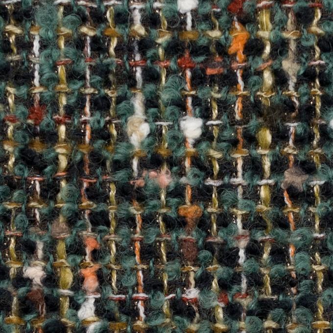 ウール&アクリル混×ミックス(クロムグリーン&ブラック)×ファンシーツイード イメージ1