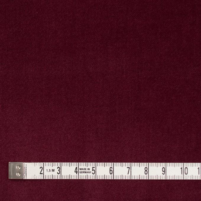 コットン&ポリウレタン×無地(ガーネット)×ベッチンストレッチ イメージ4