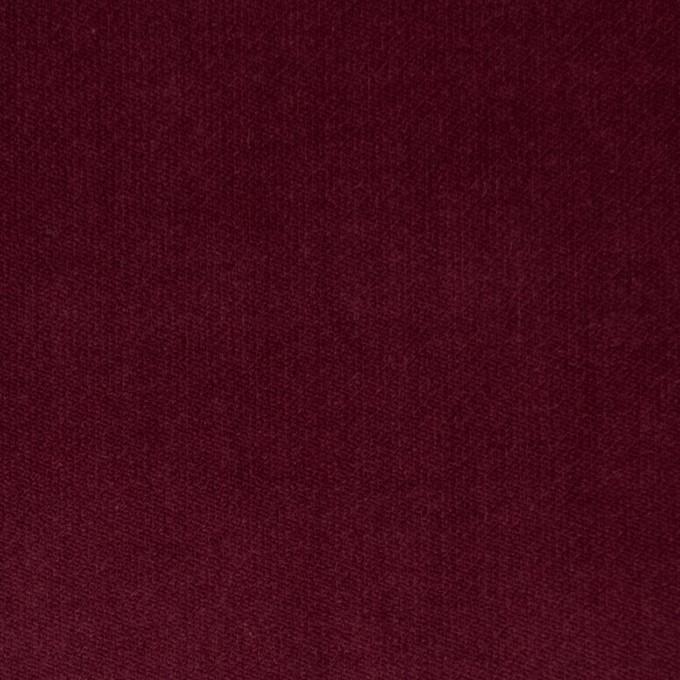 コットン&ポリウレタン×無地(ガーネット)×ベッチンストレッチ イメージ1