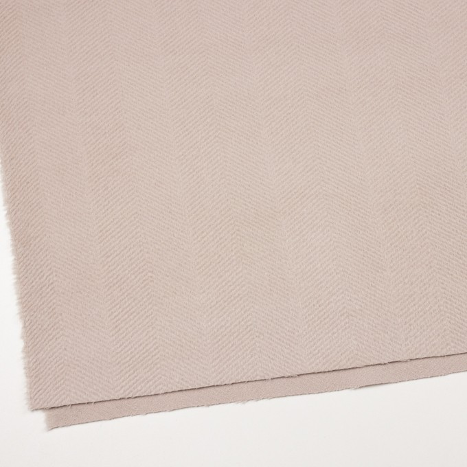 ウール&アンゴラ×無地(ウォームベージュ)×かわり織 イメージ2