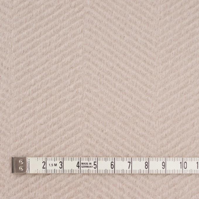 ウール&アンゴラ×無地(ウォームベージュ)×かわり織 イメージ4
