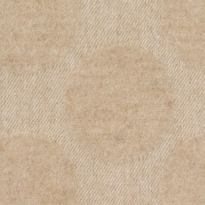 ウール&ナイロン混×サークル(ベージュ)×ジャガード イメージ1