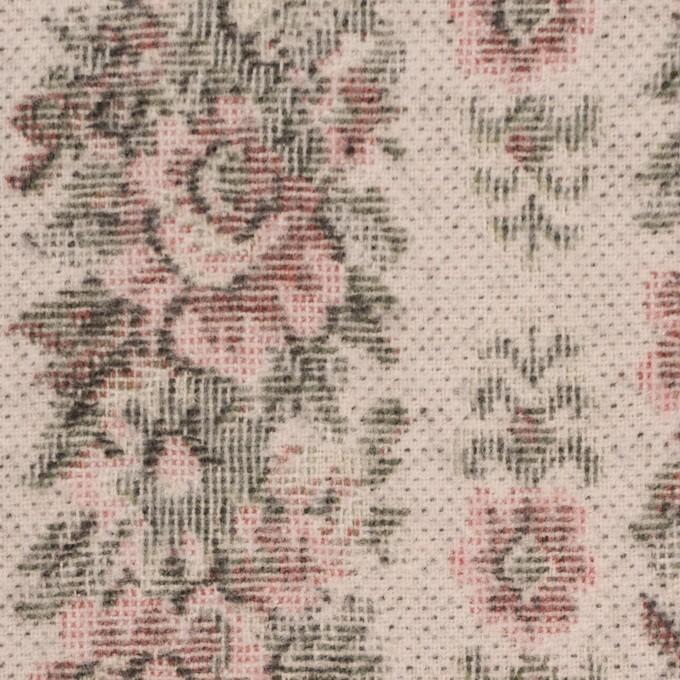 コットン&ウール×フラワー(ピンクベージュ)×ゴブラン_全2色 イメージ1
