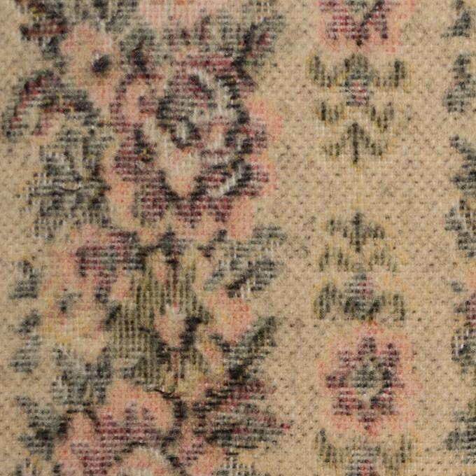 コットン&ウール×フラワー(オークルベージュ)×ゴブラン_全2色 イメージ1