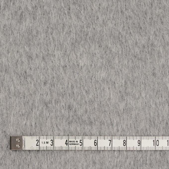 ウール×無地(ライトグレー)×シャギー イメージ4