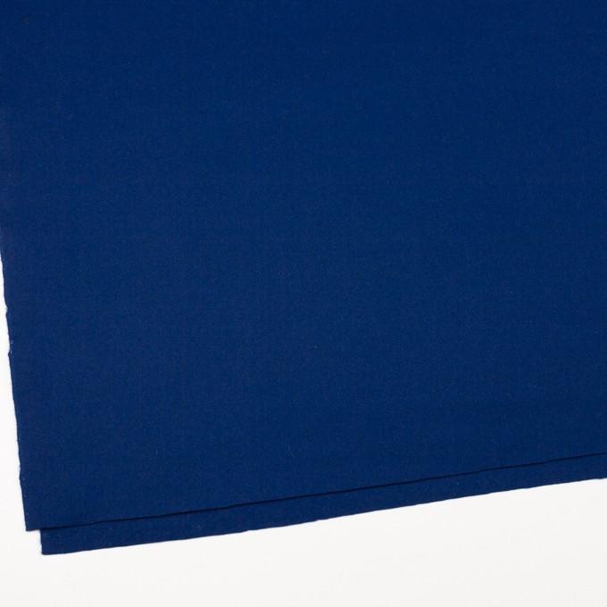 ウール×無地(ネイビーブルー)×フラノ(フランネル) イメージ2