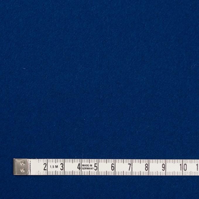 ウール×無地(ネイビーブルー)×フラノ(フランネル) イメージ4