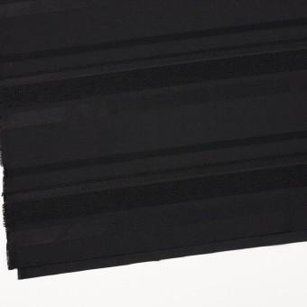ポリエステル&ナイロン混×ボーダー(ブラック)×ジャガード_全2色 サムネイル2