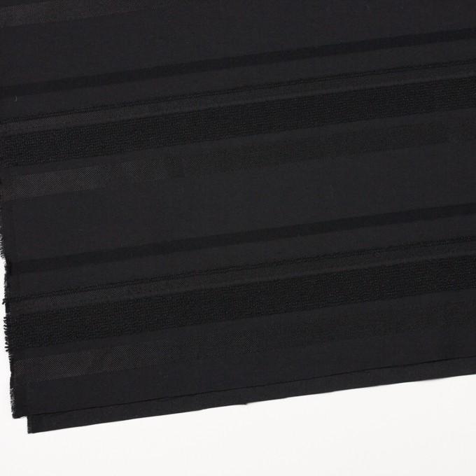 ポリエステル&ナイロン混×ボーダー(ブラック)×ジャガード_全2色 イメージ2