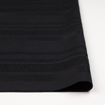 ポリエステル&ナイロン混×ボーダー(ブラック)×ジャガード_全2色 サムネイル3