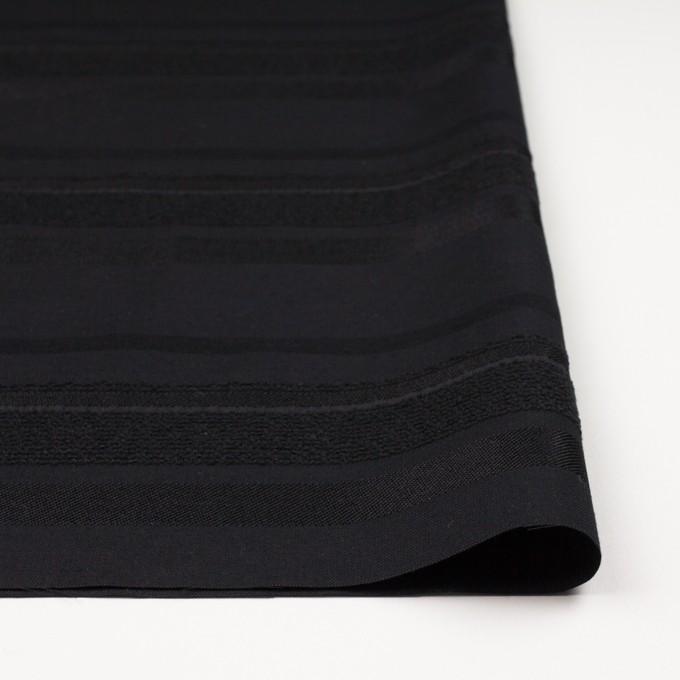 ポリエステル&ナイロン混×ボーダー(ブラック)×ジャガード_全2色 イメージ3