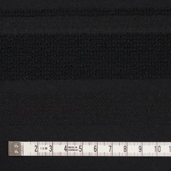 ポリエステル&ナイロン混×ボーダー(ブラック)×ジャガード_全2色 サムネイル4