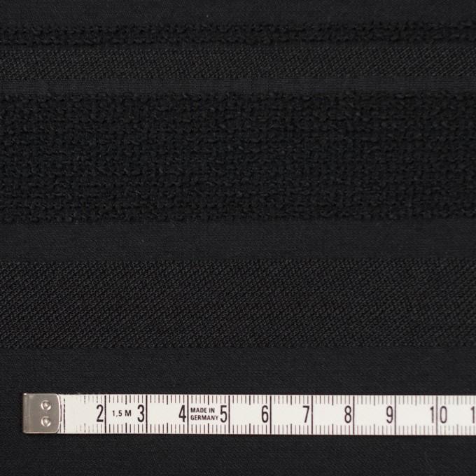 ポリエステル&ナイロン混×ボーダー(ブラック)×ジャガード_全2色 イメージ4