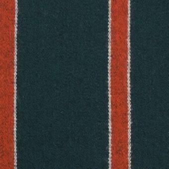ウール×ストライプ(オレンジ&モスグリーン)×ベネシャン_全2色 サムネイル1