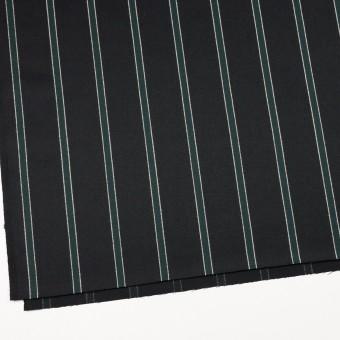 ウール×ストライプ(モスグリーン&ブラック)×ベネシャン_全2色 サムネイル2