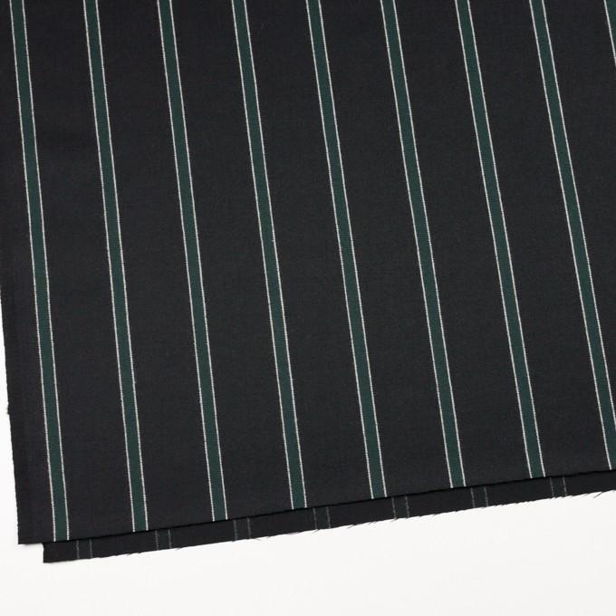 ウール×ストライプ(モスグリーン&ブラック)×ベネシャン_全2色 イメージ2