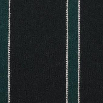 ウール×ストライプ(モスグリーン&ブラック)×ベネシャン_全2色 サムネイル1