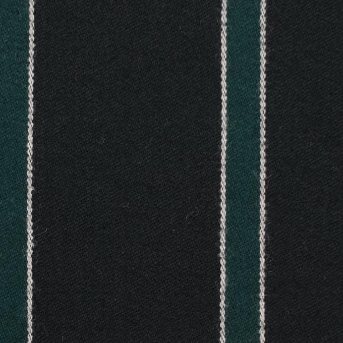 ウール×ストライプ(モスグリーン&ブラック)×ベネシャン_全2色 イメージ1