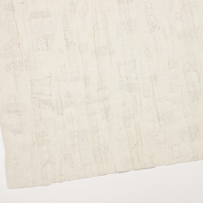 ウール&ナイロン×幾何学模様(クリーム)×ガーゼ イメージ2