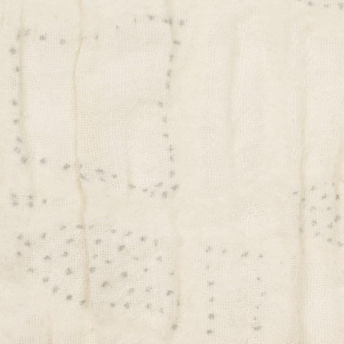 ウール&ナイロン×幾何学模様(クリーム)×ガーゼ イメージ1