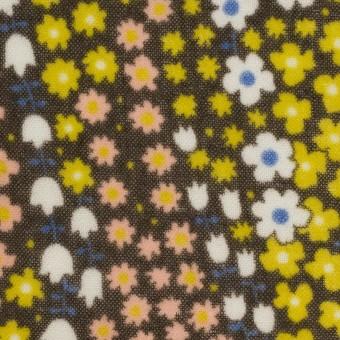 ウール×フラワー(シトラス、サーモンピンク&カーキブラウン)×ガーゼ サムネイル1