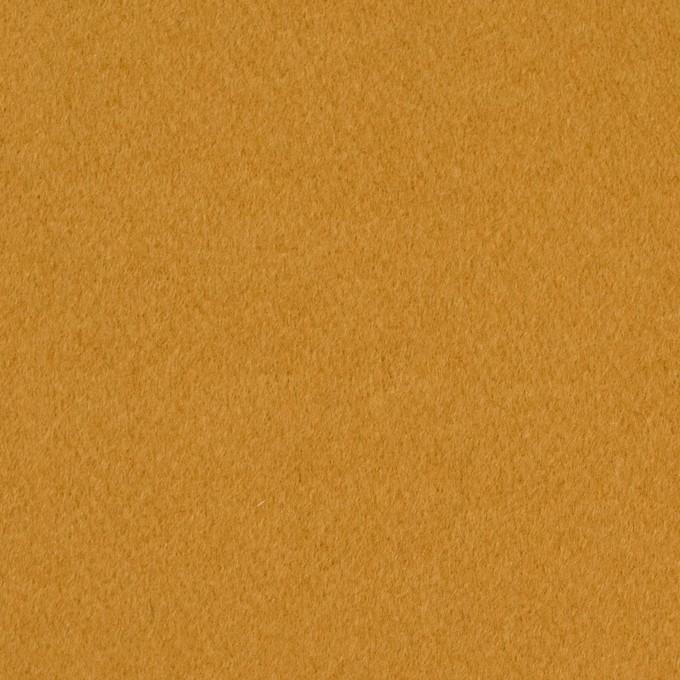 ウール&カシミア混×無地(マスタード)×ビーバー イメージ1