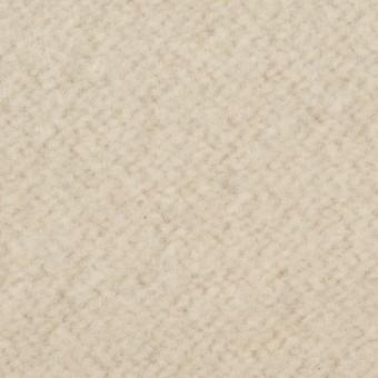 ウール&ポリエステル混×無地(アイボリー)×かわり織