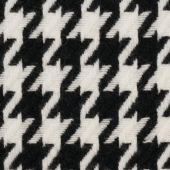 ウール&ナイロン×チェック(アイボリー&ブラック)×千鳥格子