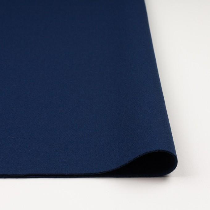 ウール&ナイロン×無地(ネイビーブルー)×厚カルゼ イメージ3