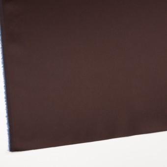 コットン&ナイロン混×無地(チョコレート)×サテンストレッチ_全6色 サムネイル2