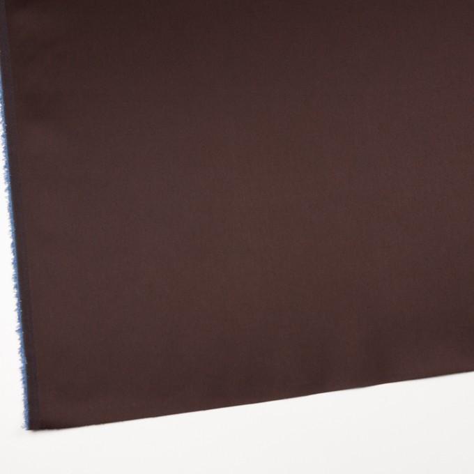 コットン&ナイロン混×無地(チョコレート)×サテンストレッチ_全6色 イメージ2