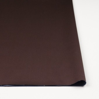 コットン&ナイロン混×無地(チョコレート)×サテンストレッチ_全6色 サムネイル3